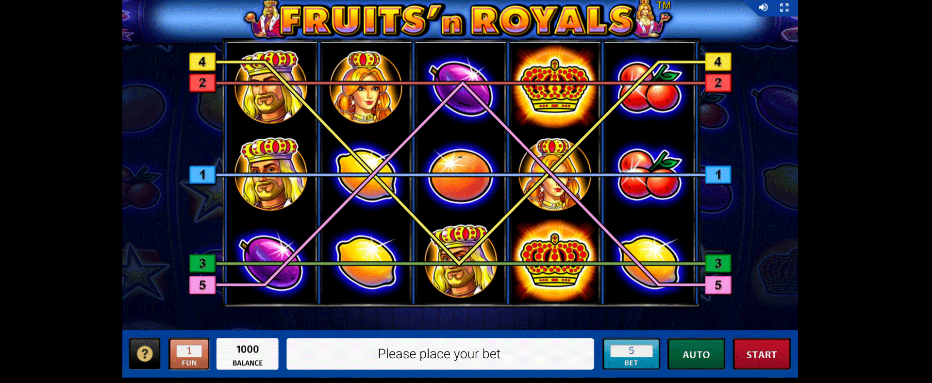 Fruits´n Royals Gratis