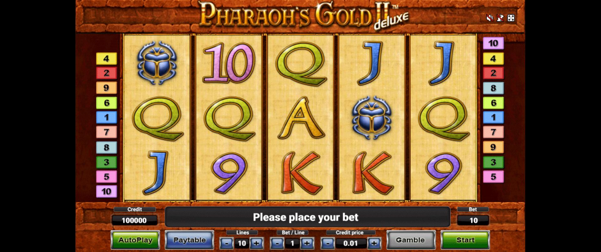 Pharaoh's Gold II Deluxe Gratis